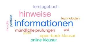 Wortwolke mit den Stichpunkten zum digitalen Prüfen